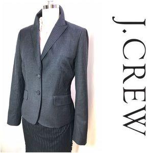 J Crew Super 120 grey pinstripe wool jacket, 8